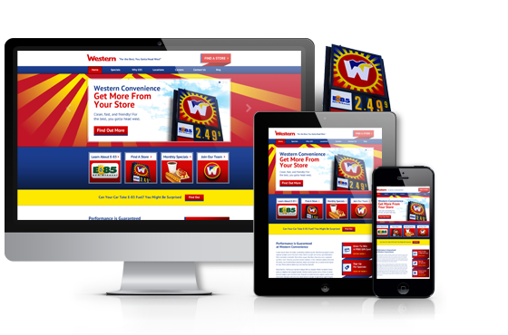 a mobile-responsive website design