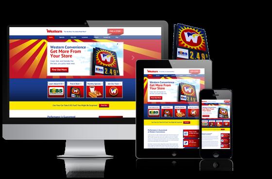 a mobile-responsive website design