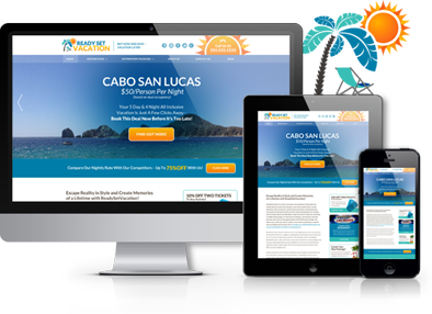 responsive mobile website | Ready Set Vacation