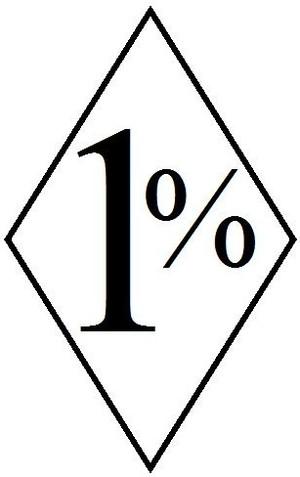 1%er Biker patch.