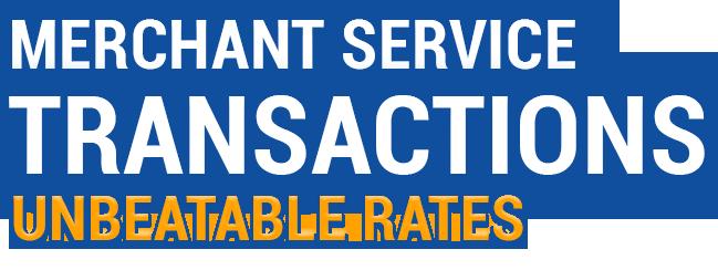 Merchant Service Trnsactions