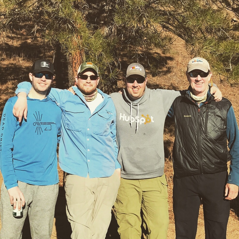 Fly fishing group photo