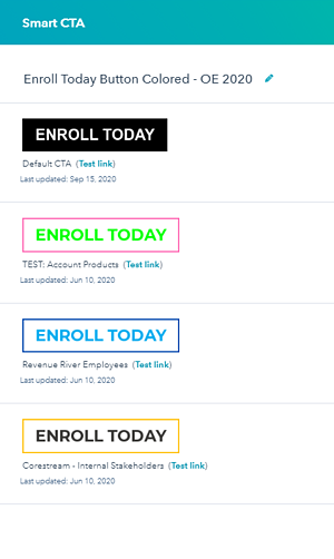 Smart CTA Screenshot