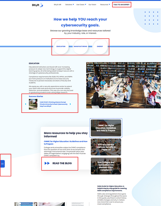 Website conversion path implementation example