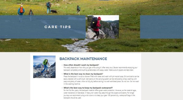 Backpack Care Tips