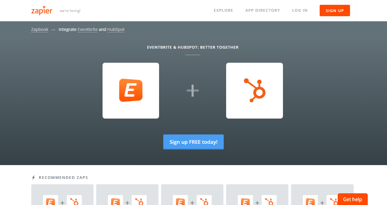 Eventbrite-HubSpot Zapier Integration - Revenue River