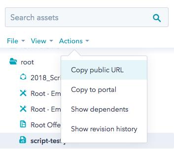 javascript-copy-public-url