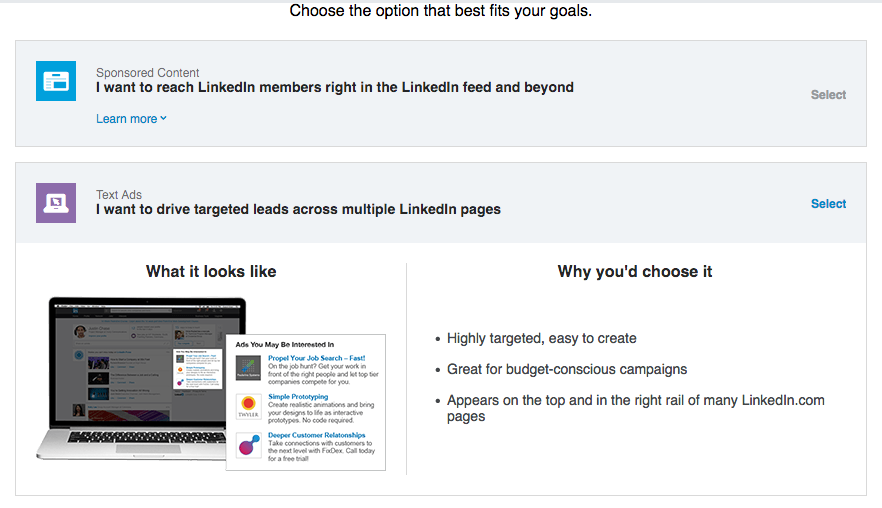 LinkedIn Create Text