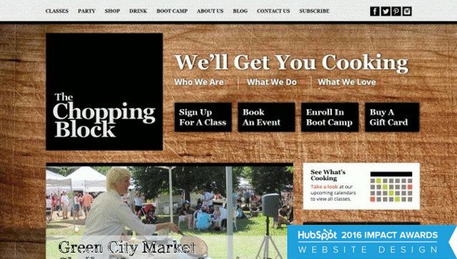 The Chopping Block's Redesigned Website