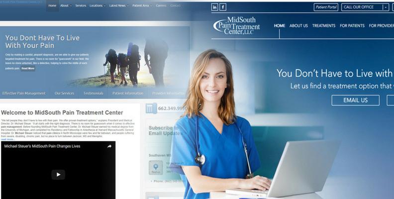 Left side: old website | Right Side: new website