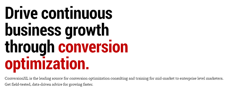 Conversion XL Conversion Optimization