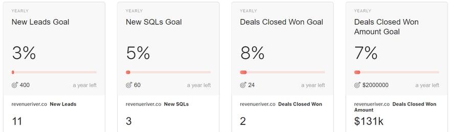 Revenue River's Annual Goals