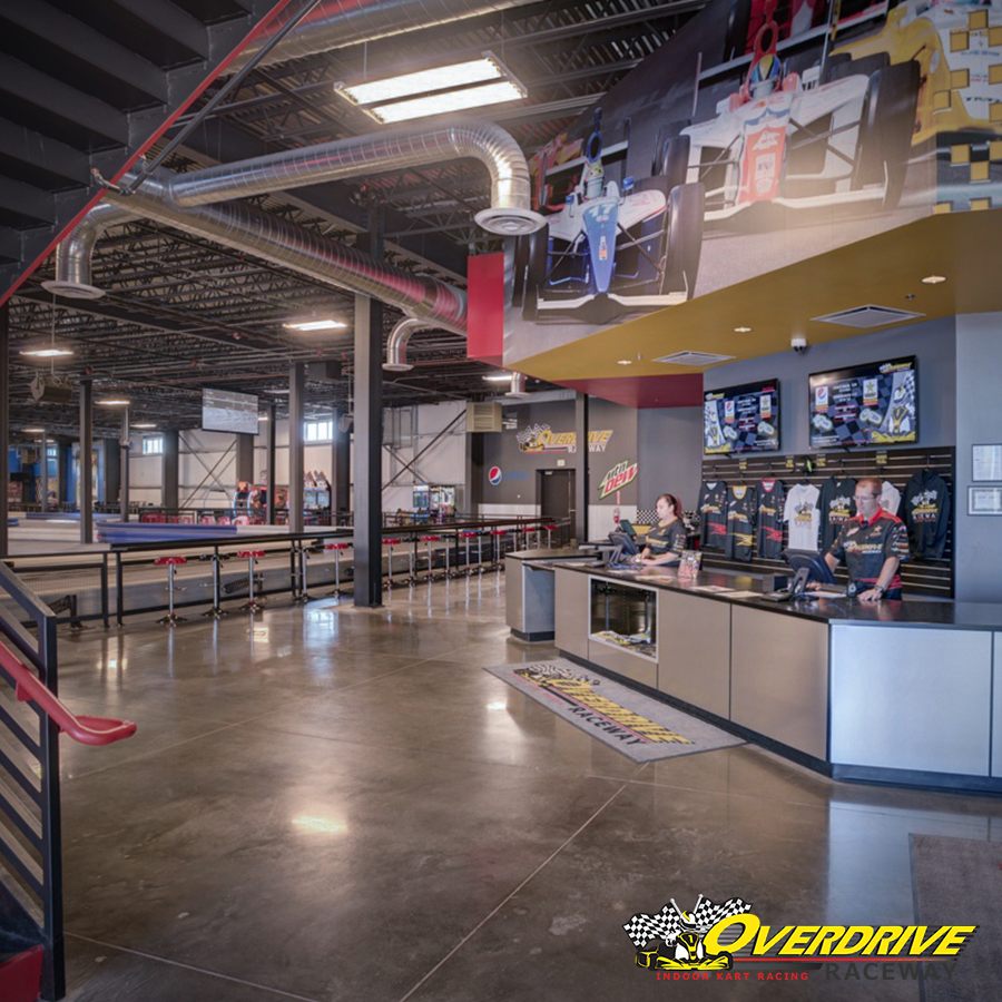 Overdrive Raceway Welcome Area