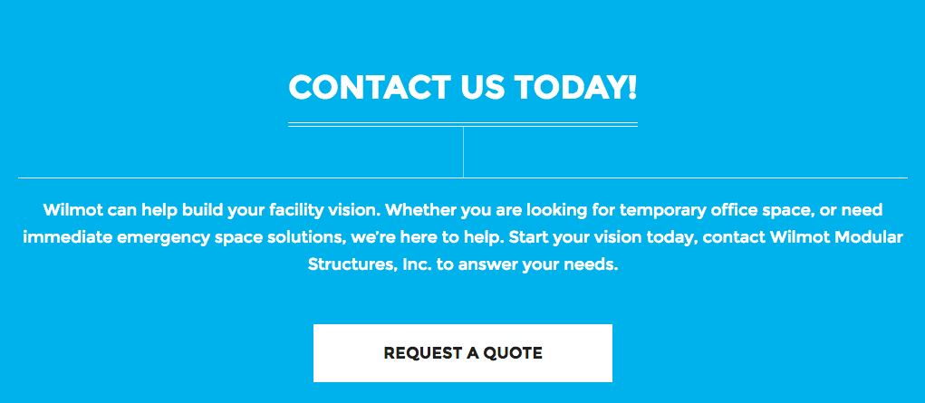 New Site Conversion Point - Request A Quote