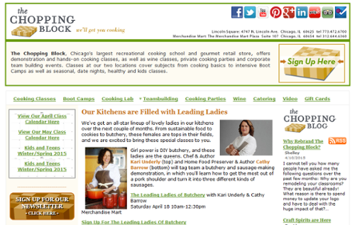 The Chopping Block's Outdated Website