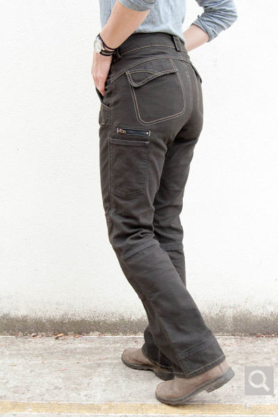 DAY CONSTRUCT IN BROWN STRETCH CANVAS by Dovetail Workwear