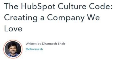 Darmesh's Culture Code