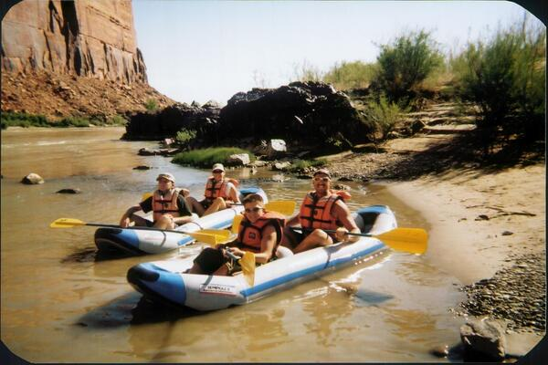 Father Son river trip on Colorado Westwater Canyon