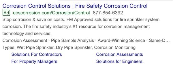 ECS Search Ad 1