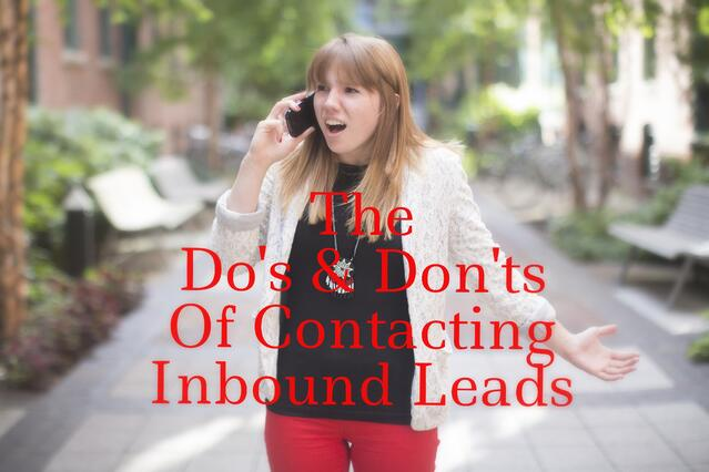 Contacting Inbound Leads- Revenue River Marketing