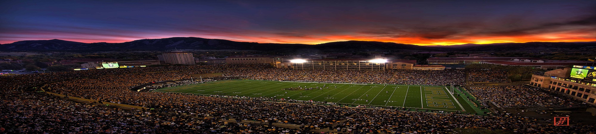Folsom Field Sunset