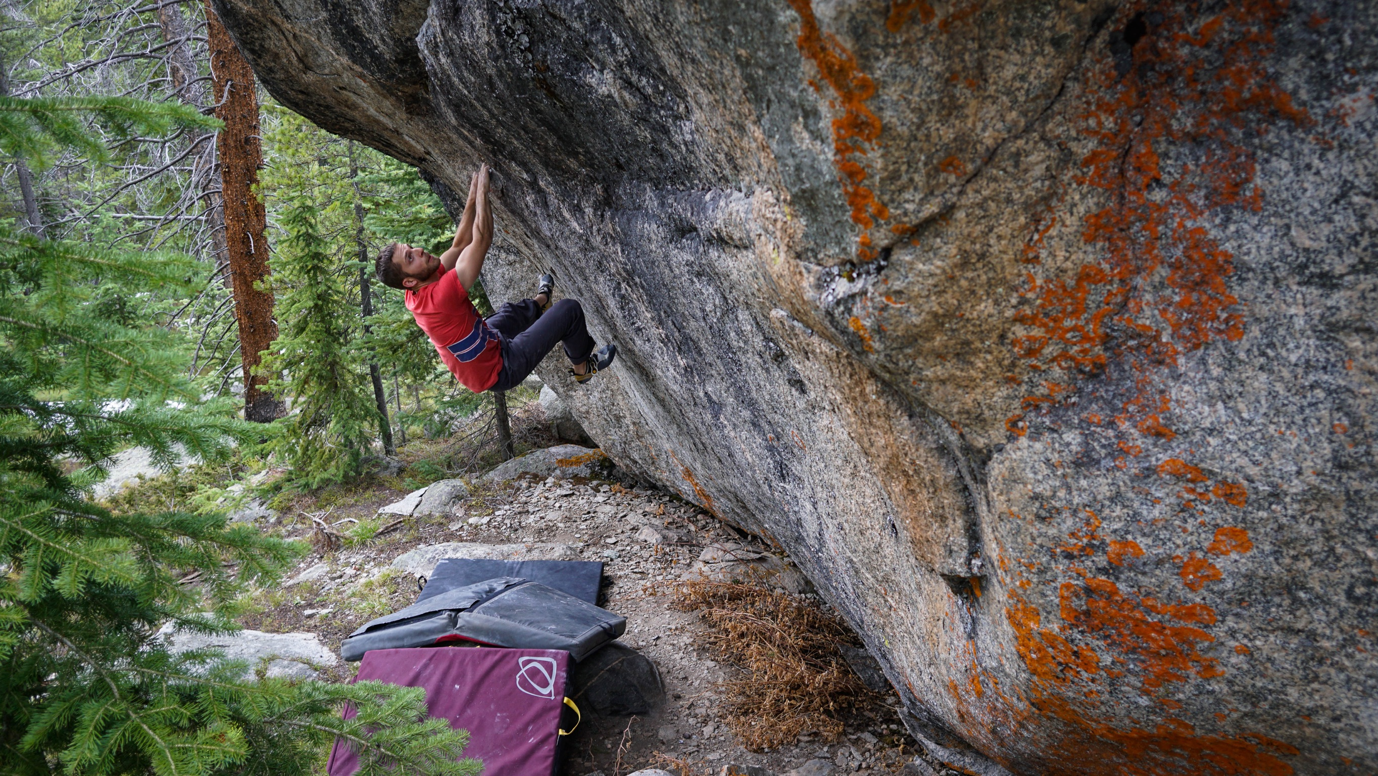 Connor Griffith climbing in the Indian Peaks, Colorado