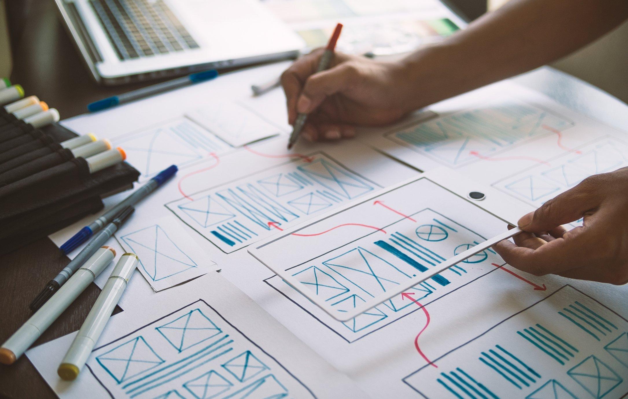 wire frame illustration design