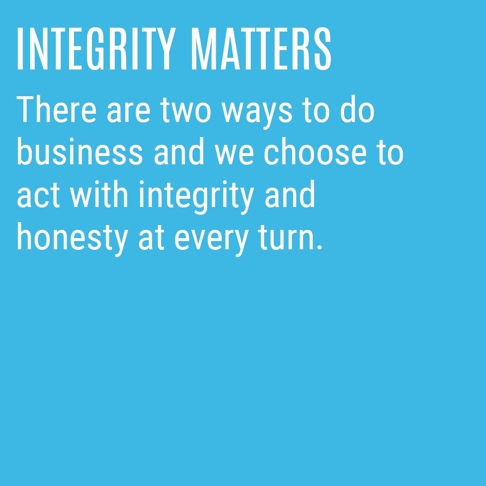 Our Culture Code - Integrity Matters
