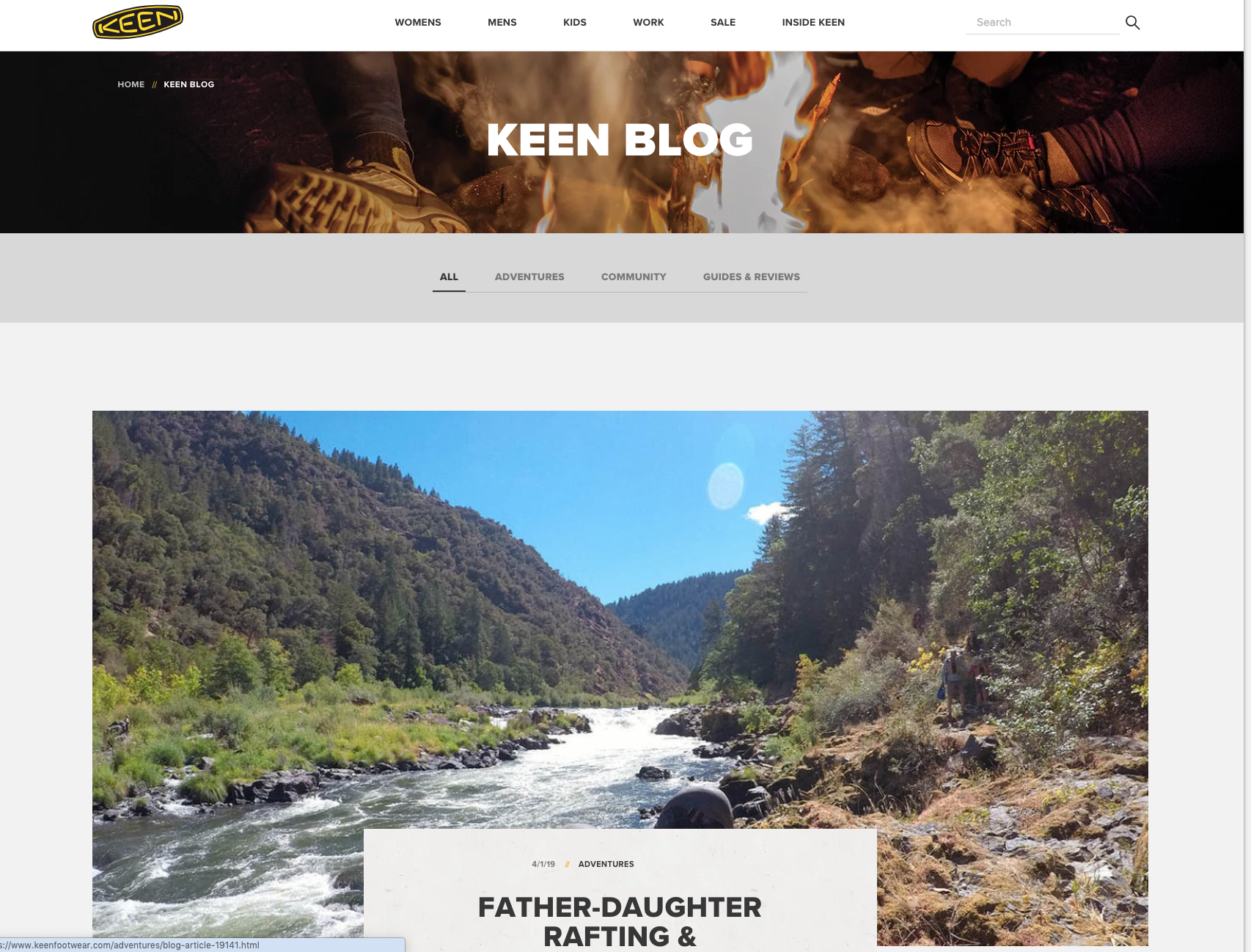Keen Footwear User Created Blog Content