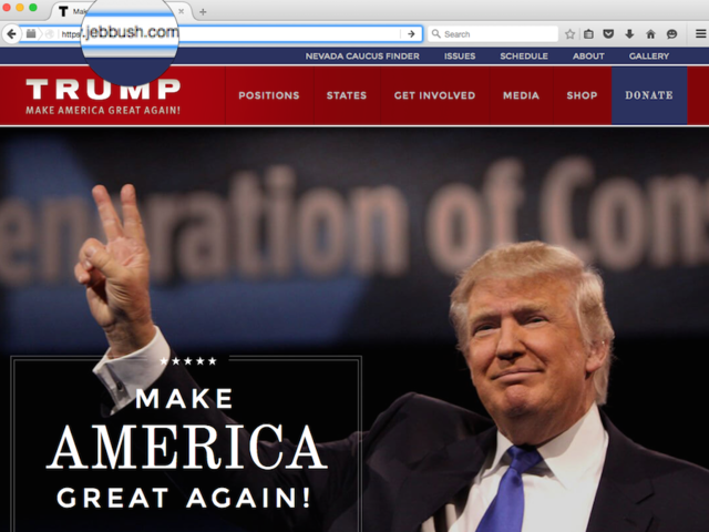 Trump - Jeb Bush website