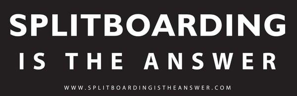 Splitboarding Sticker