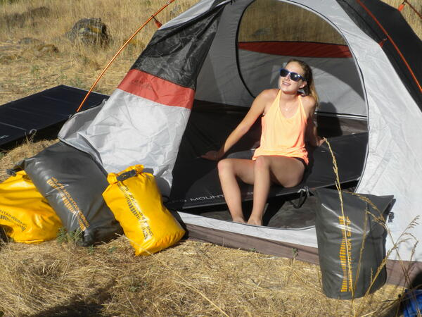 This campsites chill dad. Great ALPS Brands gear.