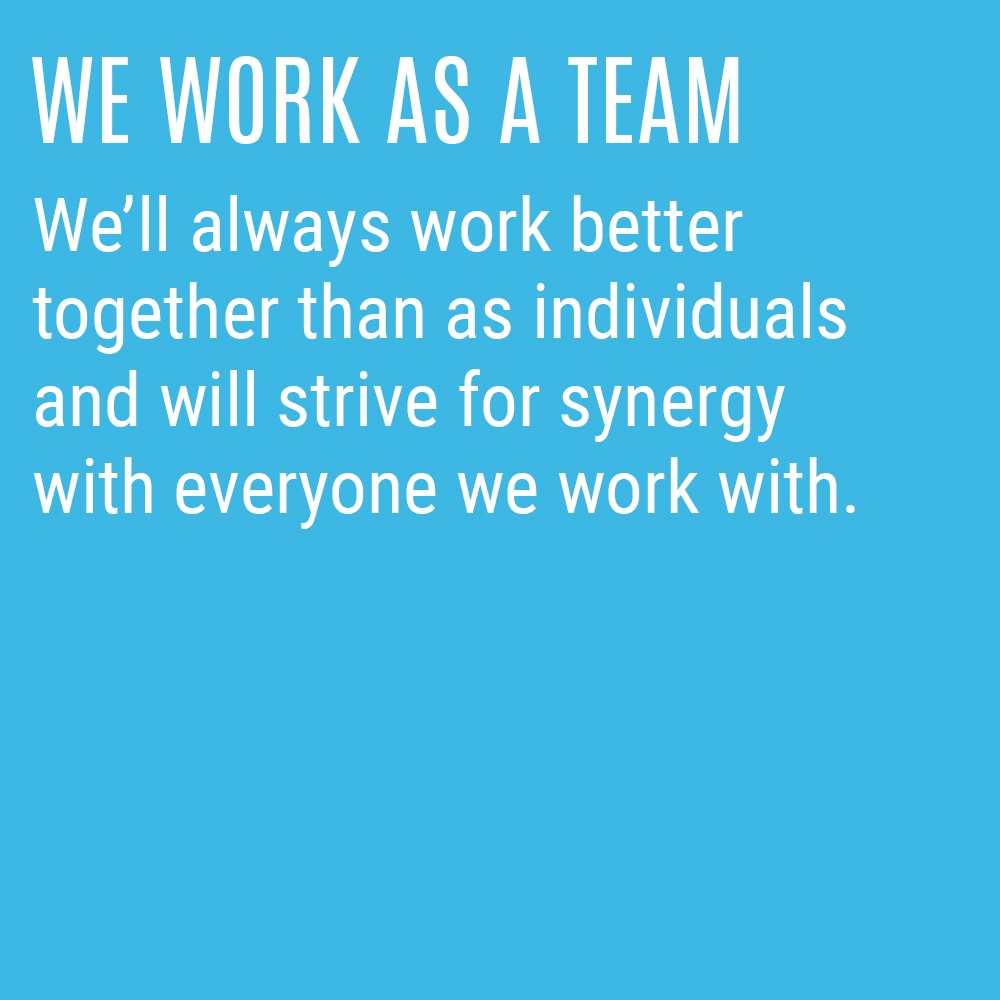 Our Culture Code - We Work as a Team