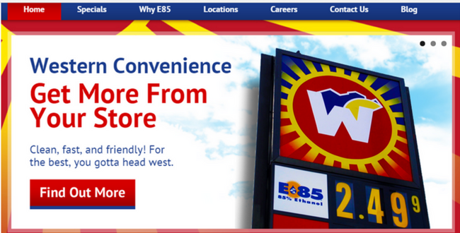 website redesign project for western convenience