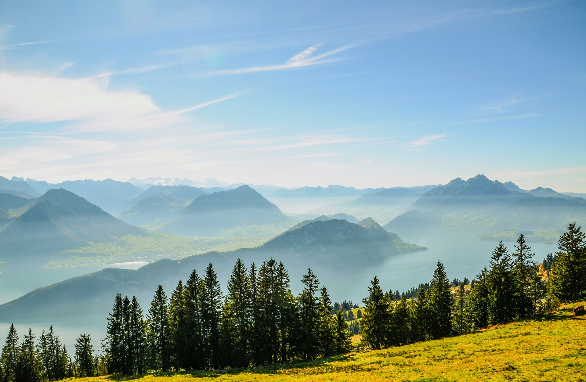 Alpine Mountain Peaks