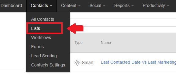 hubspot content drop down list tab