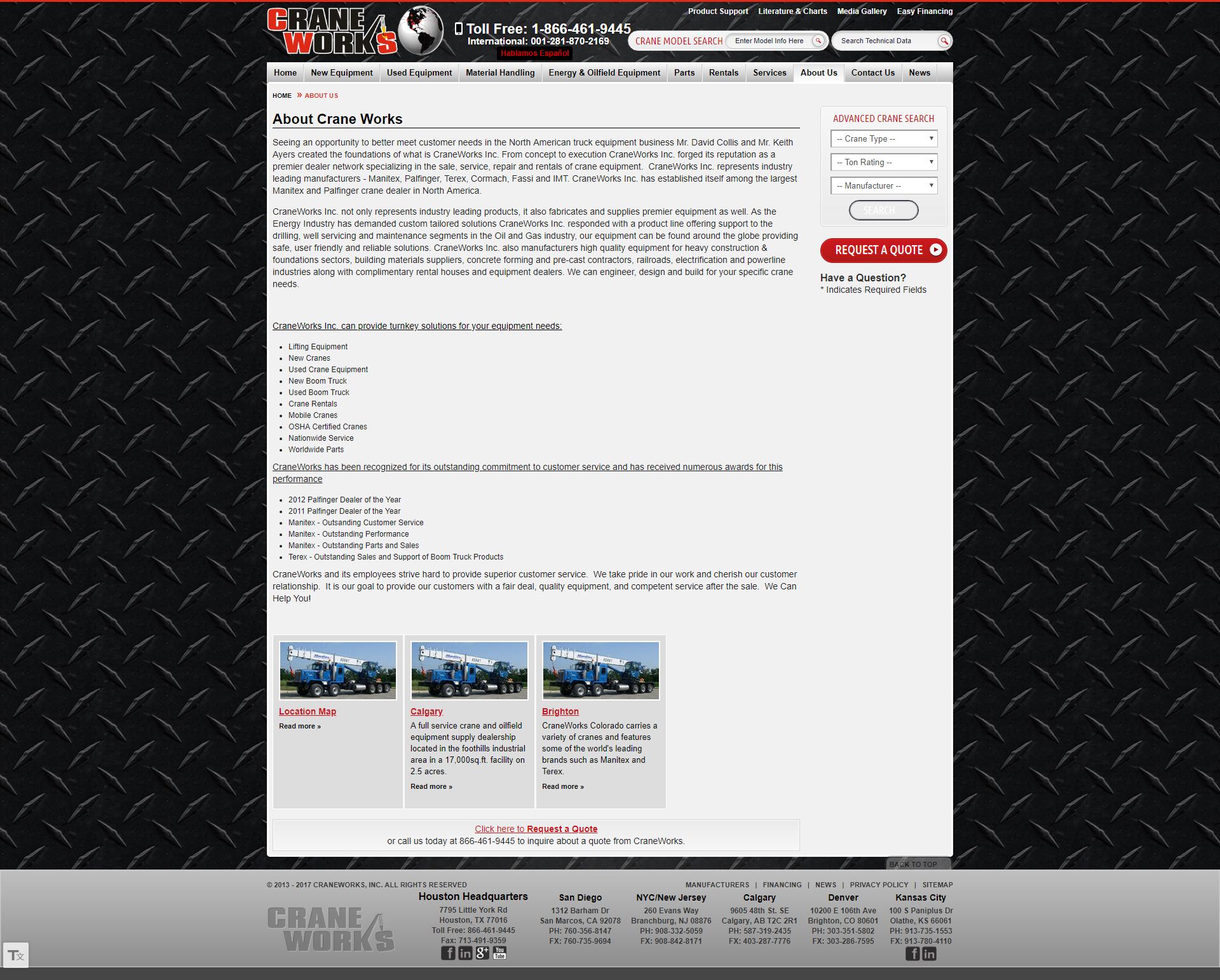 CraneWorks Old Website