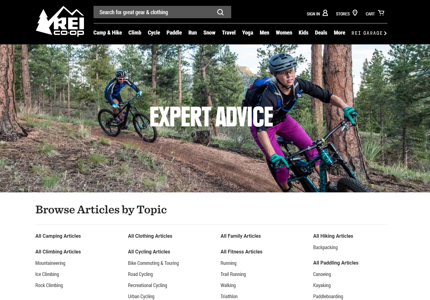 REI provides expert advice