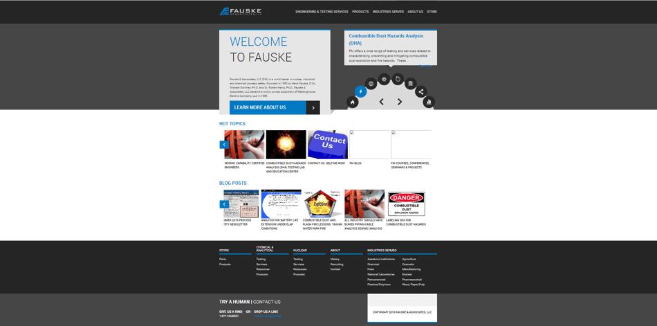 FAI Old Homepage Design