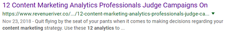 content marketing strategy SERP