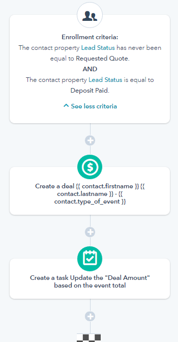 Workflow to Update Deal Amount