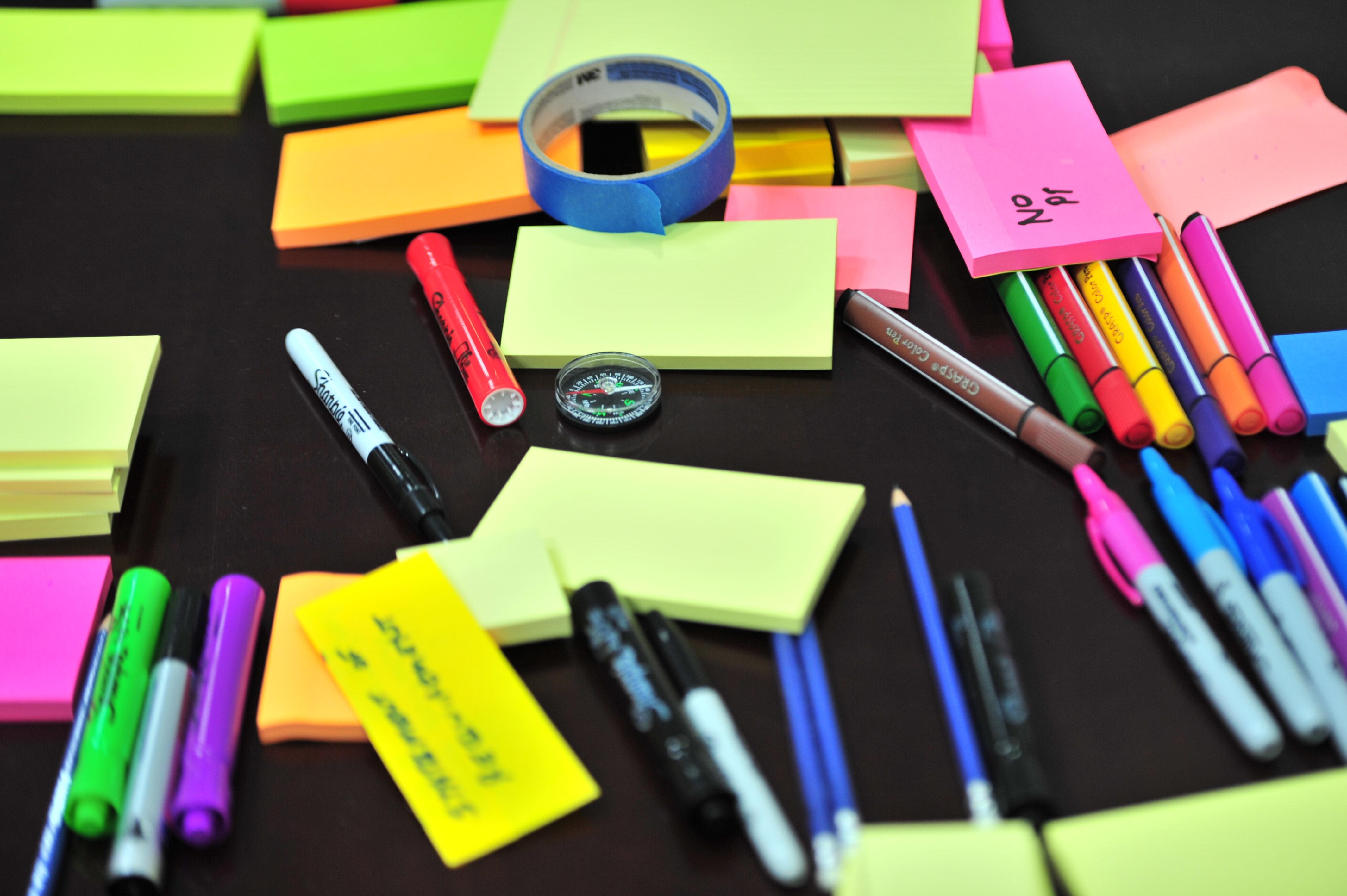 sticky notes organization