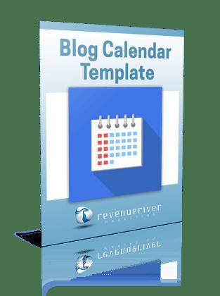 Blog Editorial Calendar Template Revenue River Marketing
