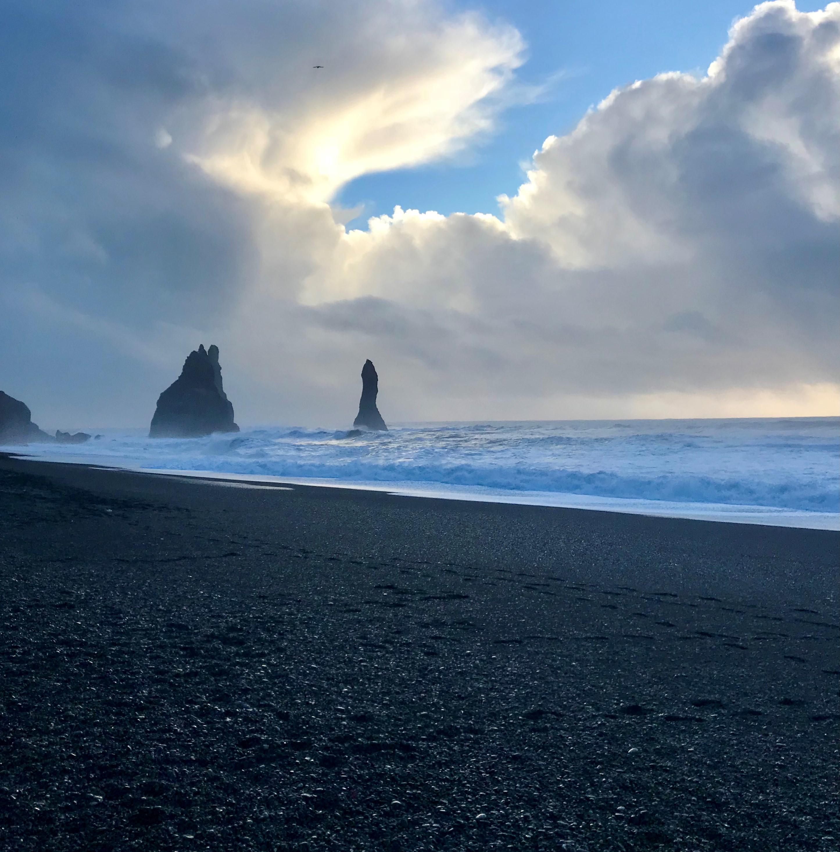 Reynisfjara black sand beach in Iceland