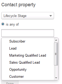 Revenue River lists options lifecycle stages