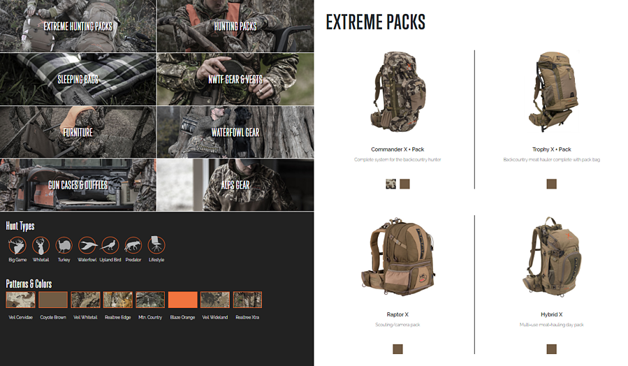 new ALPS extreme packs