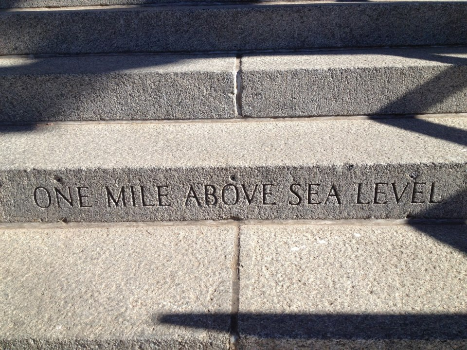 one mile above sea level