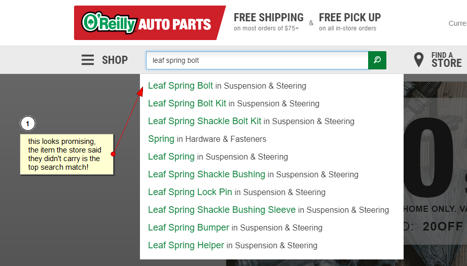oreilly search selection suggestions
