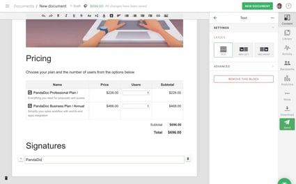 Pandadoc Sales Tool