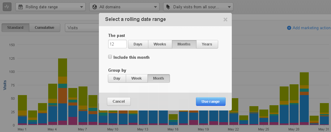 building a rolling date range for your marketing report